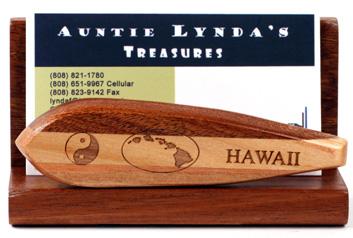 Hawaiian decor hawaii islands theme surboard business card holder gift hawaii business card holder surfboard design reheart Gallery