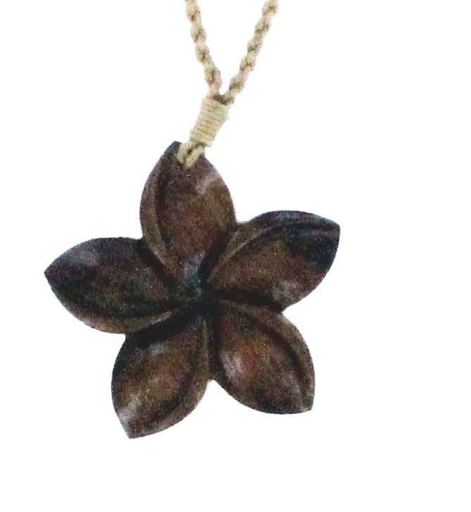 Hawaiian Hawaiian Jewelry Koa Wood Turtle Plumeria Flower Hand